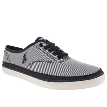 Mens Polo Ralph Lauren Navy & White Oran Shoes