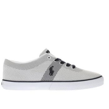 Polo Ralph Lauren White & Navy HALFORD II Trainers