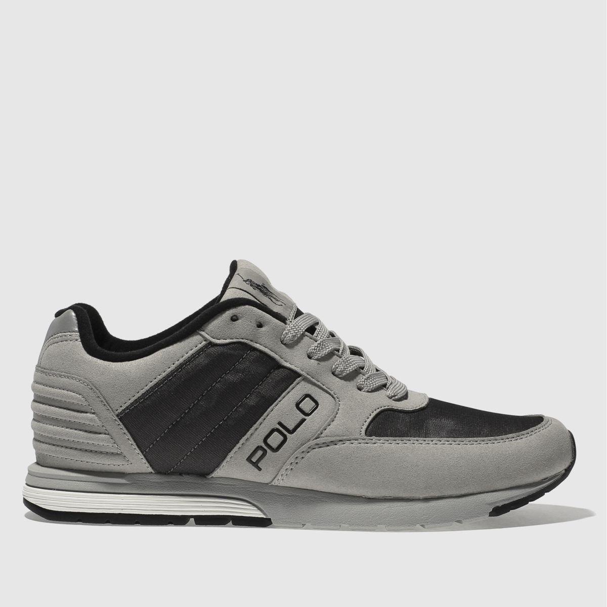 polo ralph lauren light grey laxman trainers