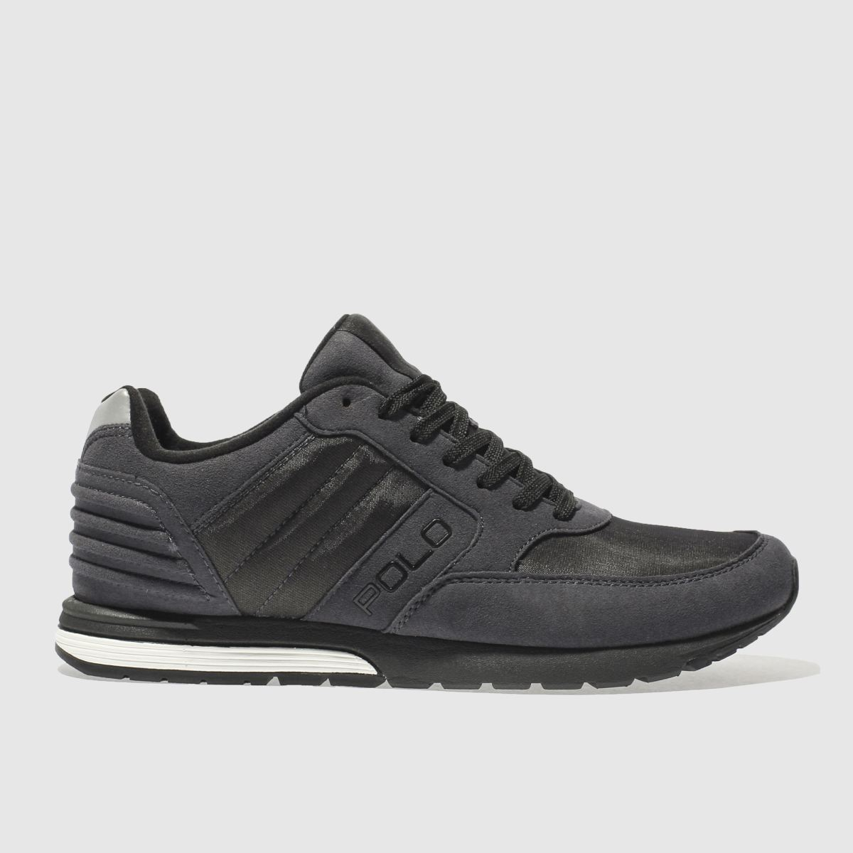 polo ralph lauren dark grey laxman trainers