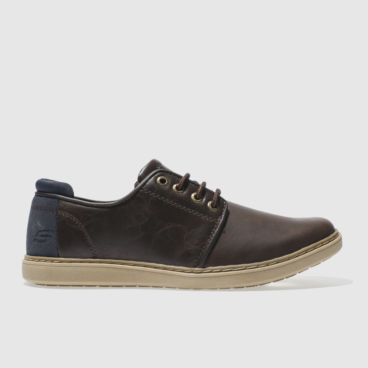Skechers Dark Brown Lanson Vernes Shoes