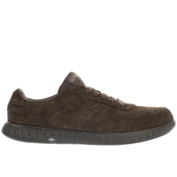 Skechers Brown On The Go Glide Mens Trainers