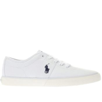 POLO RALPH LAUREN WHITE HALFORD TRAINERS