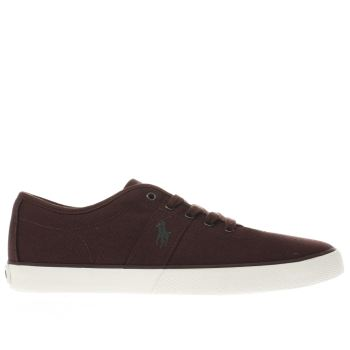 Polo Ralph Lauren Burgundy Halford Mens Trainers