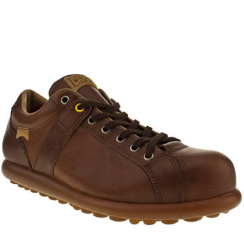mens camper dark brown pelotas casual shoes