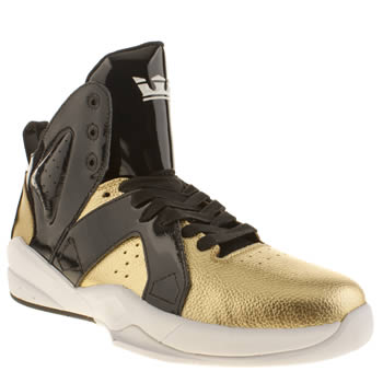 Mens Supra Black & Gold Magazine X Spectre Trainers