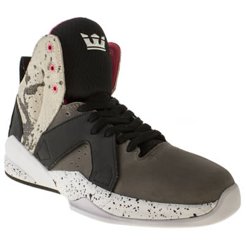mens supra grey & black magazine trainers