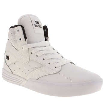 Mens Supra White Khan Trainers