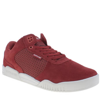 Mens Supra Red Ellington Trainers