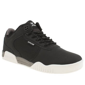 Mens Supra Black Ellington Trainers
