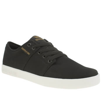 Mens Supra Black Stacks Trainers