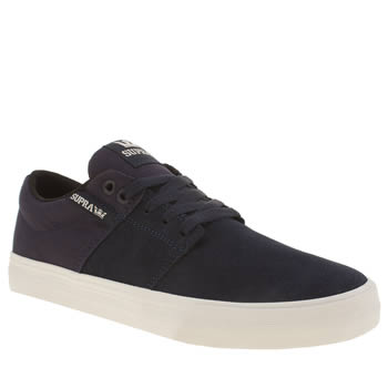 Supra Navy Stacks Vulc Ii Trainers