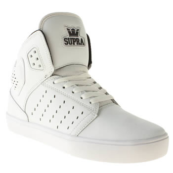 mens supra white atom trainers