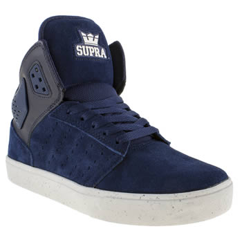 mens supra blue atom trainers