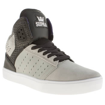 mens supra grey & black atom trainers