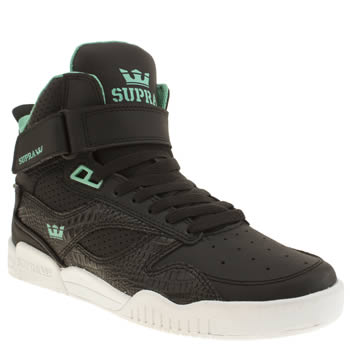 Mens Supra Black Bleeker Trainers