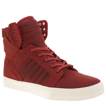 Supra Red Skytop Trainers
