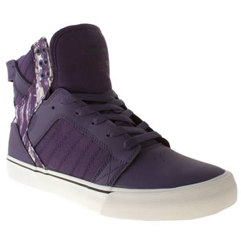 mens supra purple skytop trainers