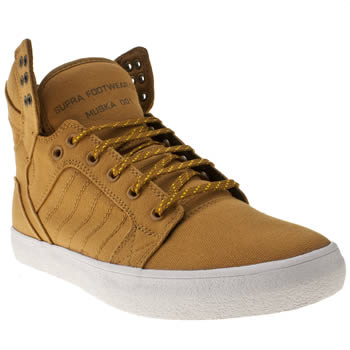 mens supra tan skytop trainers