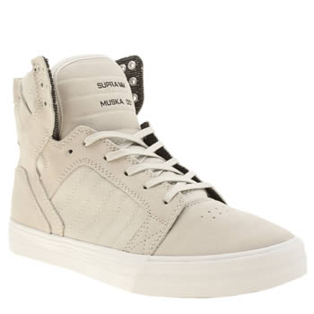 Supra Light Grey Skytop Trainers