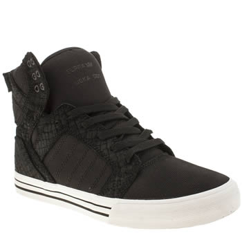 Mens Supra Black Skytop Trainers