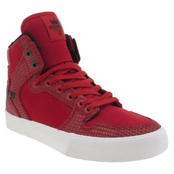 Supra Red Vaider Trainers