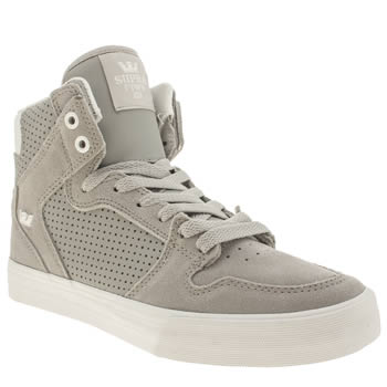Supra Light Grey Vaider Trainers