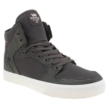 Mens Supra Dark Grey Vaider Trainers