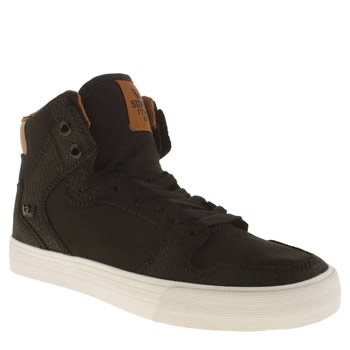 Supra Black & Brown Vaider Trainers