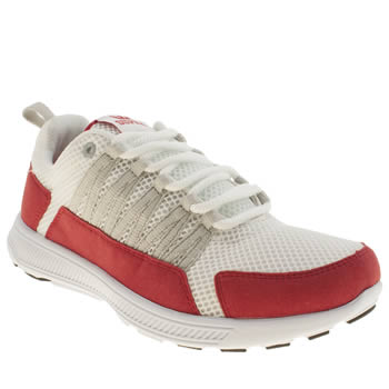 Mens Supra White & Red Owen Trainers
