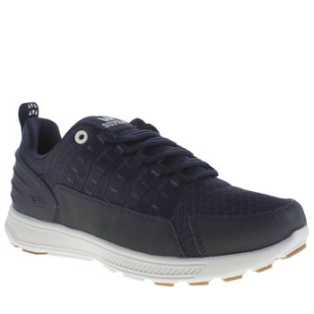 Mens Supra Navy & White Owen Heel Trainers