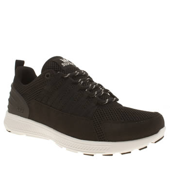 mens supra black & white owen trainers