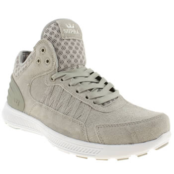 Mens Supra Grey Owen Mid Trainers