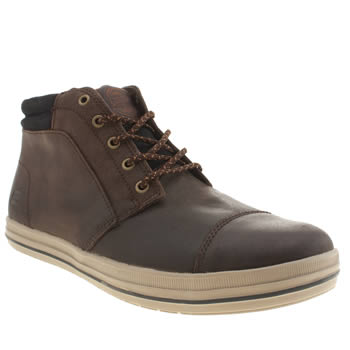 Mens Skechers Brown Define Mid Trainers