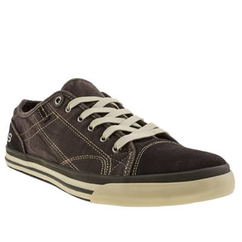 Skechers Dark Brown Diamond Black Levon Trainers
