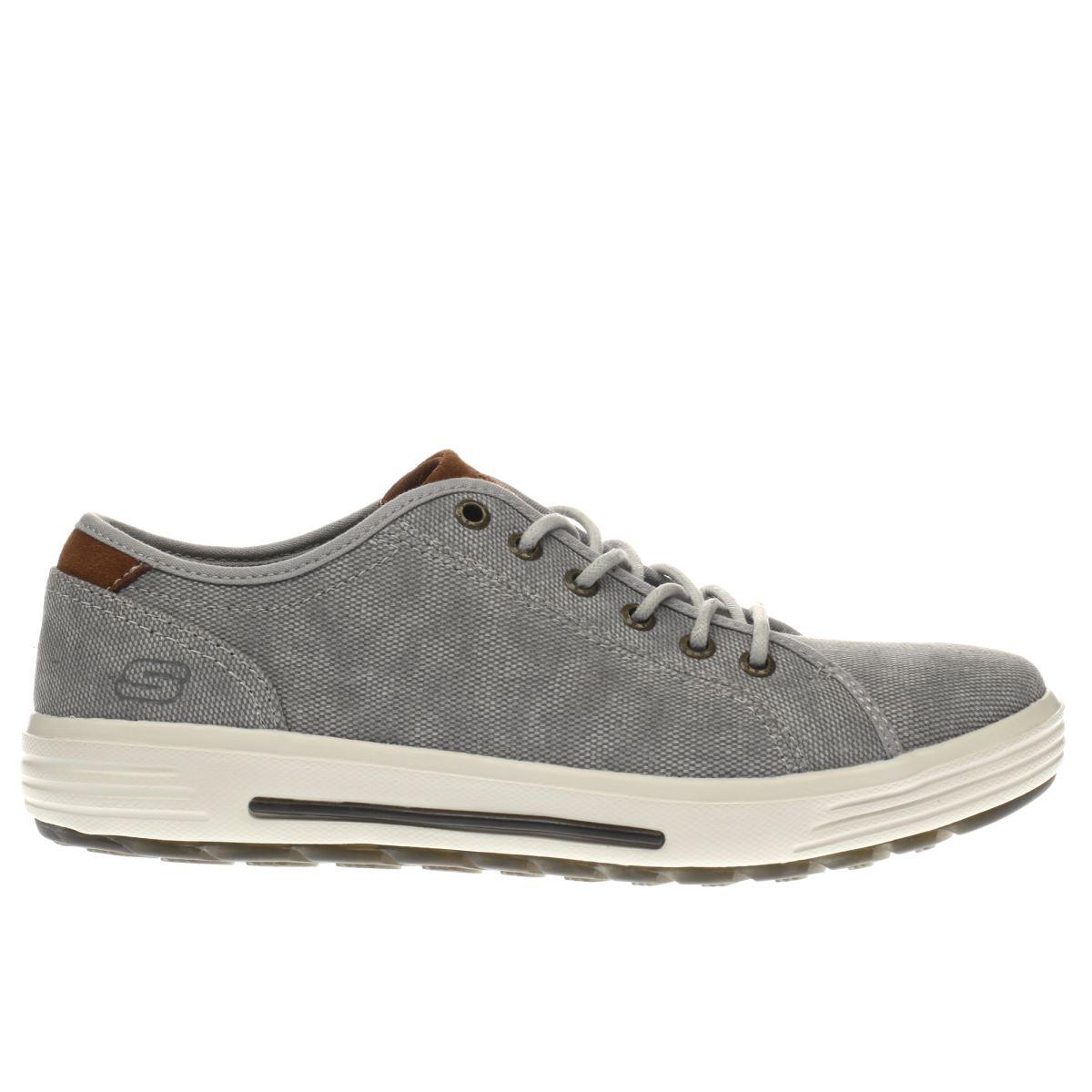 skechers light grey porter trainers