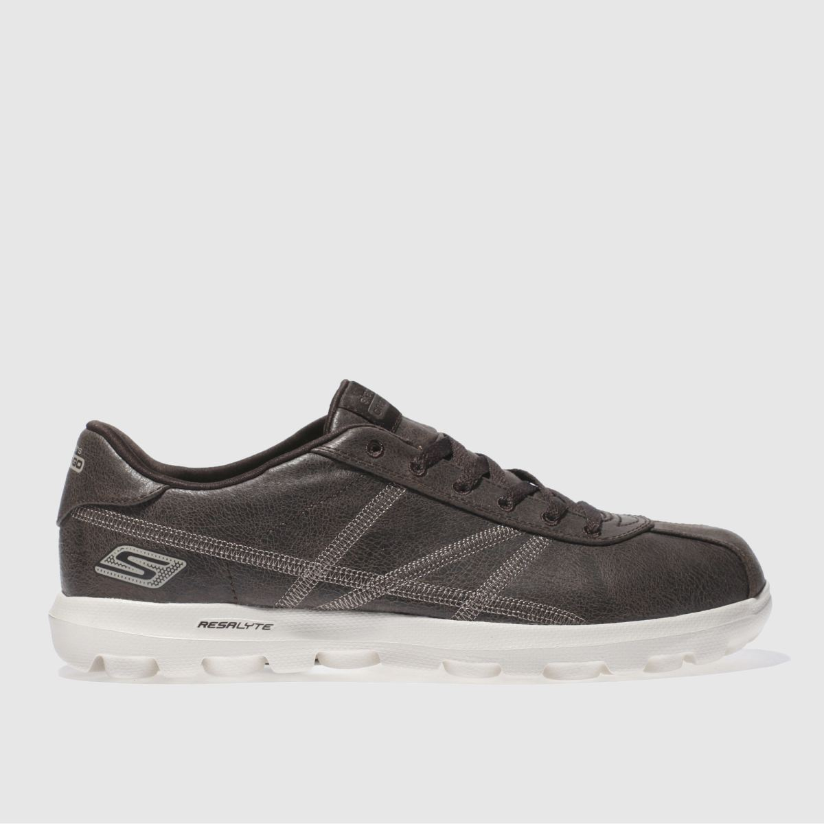 skechers dark brown on the go refined trainers