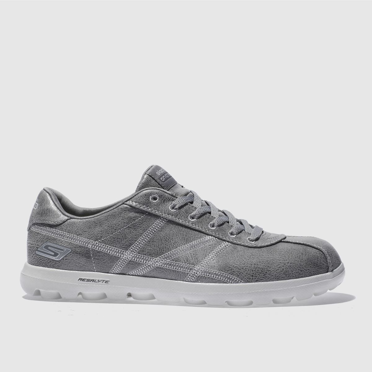 skechers grey on the go refined trainers