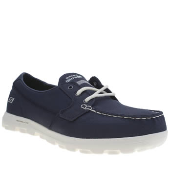 Skechers Navy Skech On-the-go Moccasin Boat Shoes