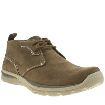 Skechers Dark Brown Superior Up Word Boots
