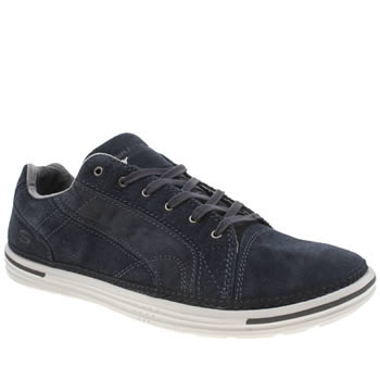 Skechers Navy Landen Buford Mens Shoes
