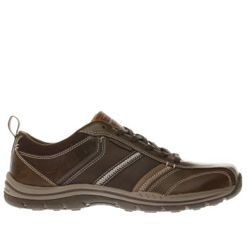 Skechers Dark Brown Expected Devention Shoes
