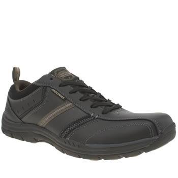 Skechers Black Expected Devention Shoes