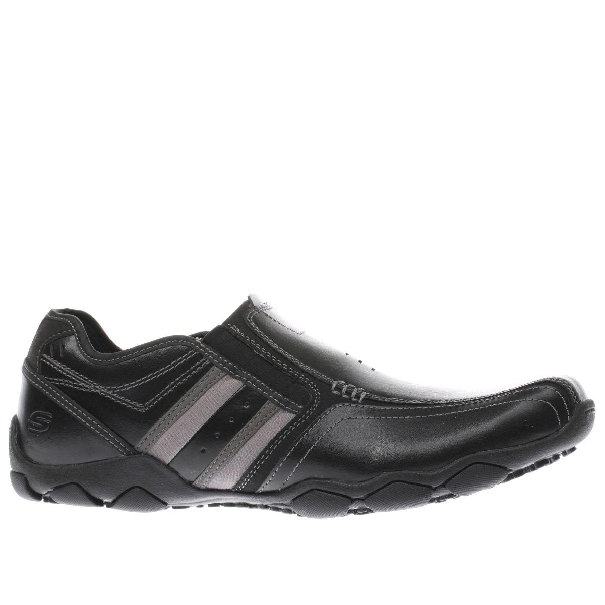 skechers black diameter zimroy shoes