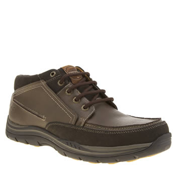 Skechers Brown Expected Cason Boots