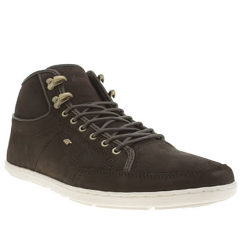 Mens Boxfresh Dark Brown Swapp Prem Blok Shoes