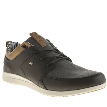 Mens Boxfresh Black & Grey Aggra Trainers