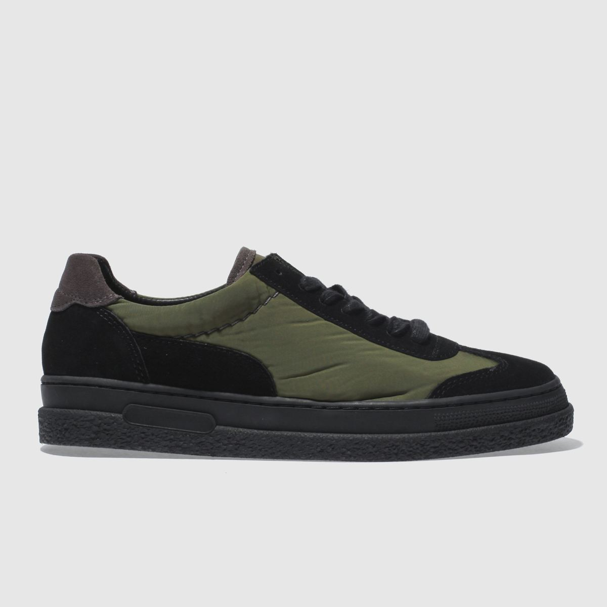 H By Hudson Black & Green Amble Trainers