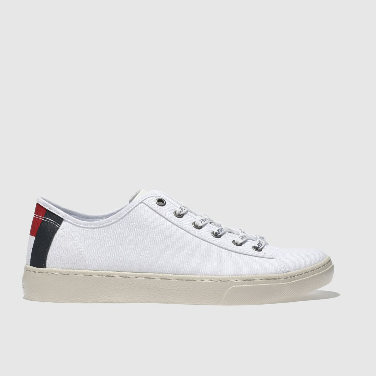 Tommy Hilfiger White & Navy Tj Light Textile Low Trainers