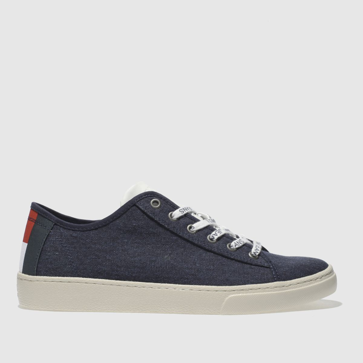 Tommy Hilfiger Tommy Hilfiger Navy & White Tj Light Textile Low Trainers